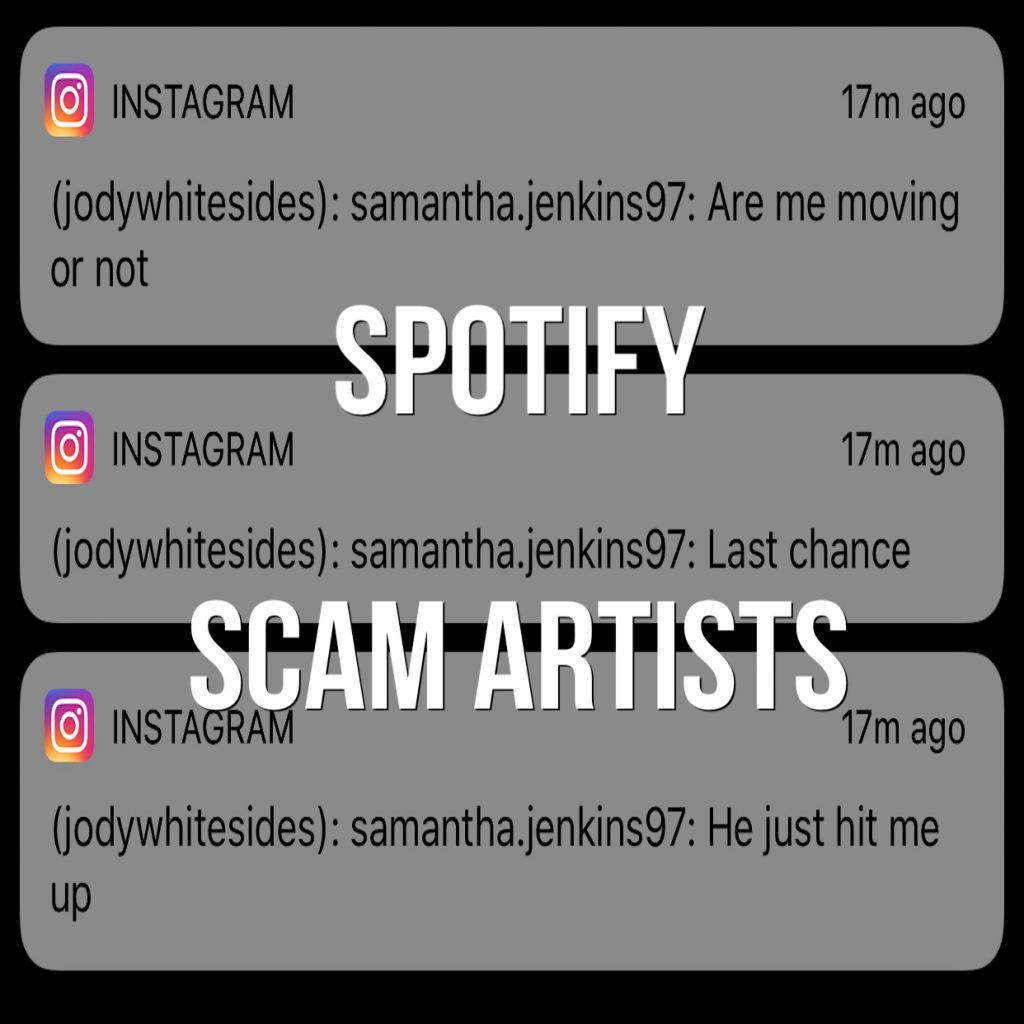 Spotify Scam Artists on Social Media